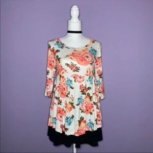 NEW White Floral Babydoll Top